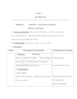 Giáo án Anh văn lớp 8 - UNIT 1 MY FRIENDS - PERIOD 2 - LESSON 1 : GETTING STARTED LISTEN AND READ pps