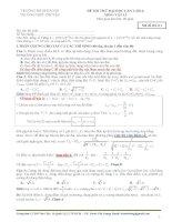 Giải chi tiết đề thi thử đại học môn vật lý chuyên ĐHSP Hà nội 2014