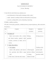 Giáo án anh văn lớp 12 - Unit 15: WOMEN IN SOCIETY - Lesson : Reading pptx