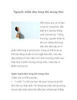 Nguyên nhân đau lưng khi mang thai pdf