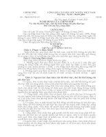 Nghị định 54/NĐ-CP ngày 19/04/2005 quy định chế độ cho thôi việc