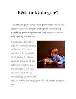 Bệnh tự kỷ do gene? pps