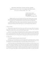 phương pháp sử dụng bảng lôgic trong quản lý dự án theo hướng dẫn của uỷ ban châu âu - ecban châu âu - ec