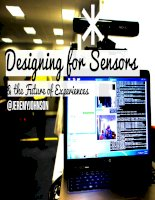 Designing for Sensors and the Future of Experiences