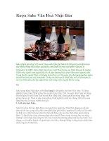 Rượu Sake Văn Hoá Nhật Bản pot