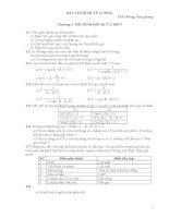 bài tập kinh tế lượng - chương i - mô hình hồi quy 2 biến