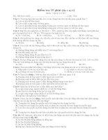 kiểm tra 15 phút lớp 10 NC - học kỳ 2
