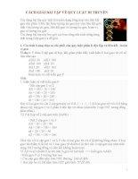 cách giải bài tập về quy luật di truyền