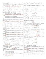trắc nghiệm lý thuyết dao động