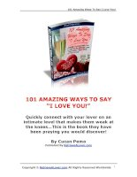 101 Amazing Ways To Say I Love You! ppsx