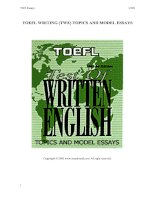 TOEFL WRITING (TWE)TOPICS AND ESSAYS