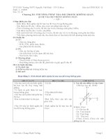 Giáo án Hình học 12 Chương III Ban cơ bản