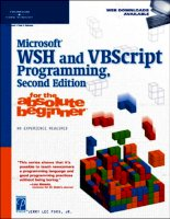 Microsoft WSH and VBScript Programming for the Absolute Beginner Part 1 ppsx