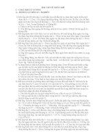 Bài tập về khí chất - lớp 10