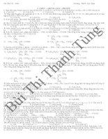 ôn thi TN-ĐH hữu cơ 12