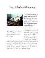 Lưu ý thai ngoài tử cung pot