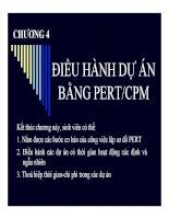bài giảng phương pháp định lượng trong kinh tế chương 4 điều hành dự án bằng pert cpm