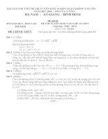 bài giải chi tiết đề thi TS 10 5 tỉnh 2009-2010(basan)