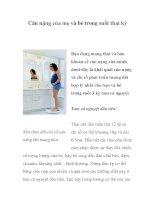 Cân nặng của mẹ và bé trong suốt thai kỳ pdf
