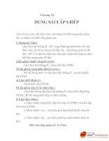 bài giảng môn học thiết kế hệ thống tự động cơ khí, chương 12 pps
