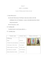 Period 7 UNIT 2: CLOTHING Lesson1: Getting started, Listen and read I. Aims of the lesson : By the potx