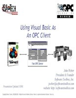 Using Visual Basic As An OPC Client ppt