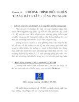 Chương 10: Chương trình điều khiển thang máy 5 tầng dùng PLC S7 - 300 docx