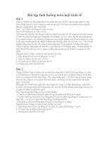 bài tập tình huống môn luật kinh tế