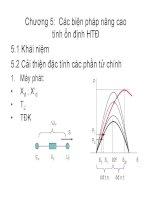 Chương 5: Các biện pháp nâng cao tính ổn định hệ thống điện pps
