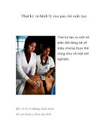 Thai kỳ và bệnh lý của gan, túi mật, tụy docx