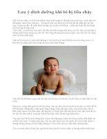 Lưu ý dinh dưỡng khi bé bị tiêu chảy ppsx