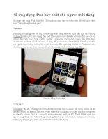 15 ứng dụng ipad hay nhất cho người mới dùng
