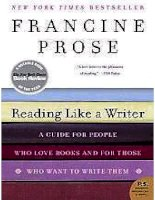 reading like a writer  a guide for people who love books and  francine prose