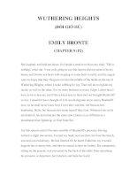 LUYỆN ĐỌC TIẾNG ANH QUA CÁC TÁC PHẨM VĂN HỌC –WUTHERING HEIGHTS (ĐỒI GIÓ HÚ) EMILY BRONTE CHAPTER 9 (P2) pptx