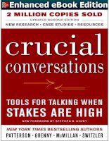 crucial conversations tools for talking when stakes are high   kerry patterson