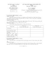 Đề và đáp án thi HSG THPT môn Lịch sử tỉnh Thanh Hoá