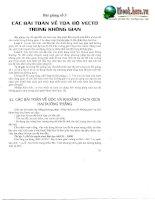 Các bài toán về tọa độ Vectơ trong không gian doc