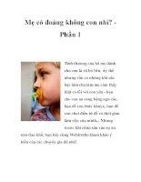 Mẹ có đoảng không con nhỉ? Phần 1 pdf