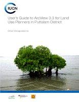 hướng dẫn sử dụng để arcview 3.3 để các nhà quy hoạch sử dụng đất tại quận puttalam