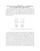 thiết kế hệ truyền động cho cân bằng định lượng, chương 4 ppt