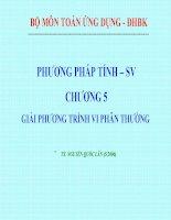 Bài giảng phương pháp tính chương 5 giải phương trình vi phân thường   TS  nguyễn quốc lân