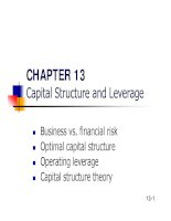 Slide Financial Management - Chapter 13 pptx