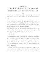 tính toán thiết kế bảo vệ rơ le cho trạm biến áp 110 KV Vân Đình, chương 9 pps