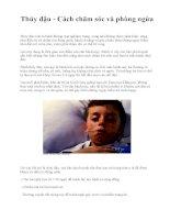 Thủy đậu - Cách chăm sóc và phòng ngừa pptx
