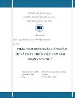 PHÂN TÍCH BCTC NGÂN HÀNG ĐẦU TƯ VÀ PHÁT TRIỂN VIỆT NAM GIAI ĐOẠN 2009 - 2011