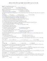 Đề cương ôn tập vật lý 11 học kỳ 2