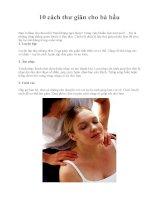 10 cách thư giãn cho bà bầu ppt