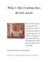 Phần 2: Bài trí phòng theo độ tuổi của bé pdf