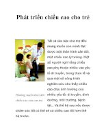 Phát triển chiều cao cho trẻ docx