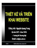 bài giảng  thiết kế và triển khai website